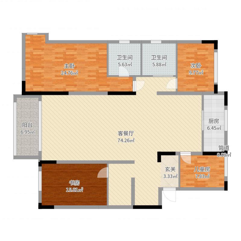 万科惠斯勒小镇M38#/M50#电梯洋房顶越层户型户型图