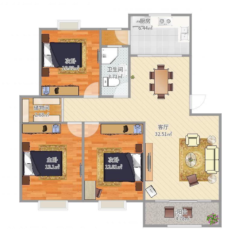新高苑三期59-202户型图