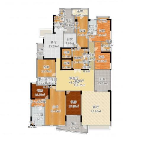 中信君庭6室2厅6卫1厨439.00㎡户型图