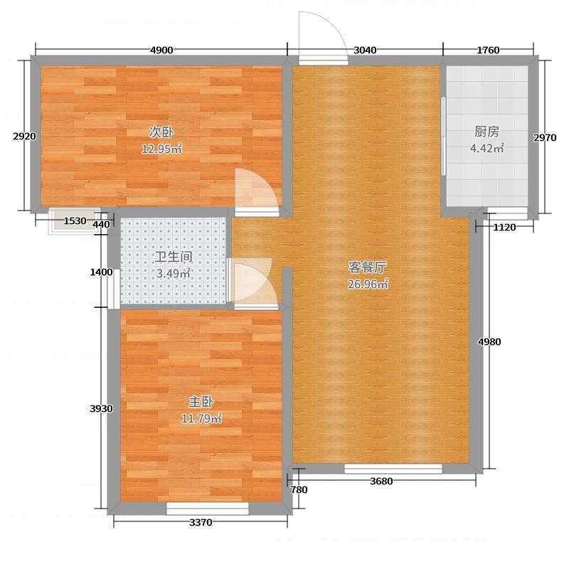 铂悦山127.00㎡户型3室2厅2卫-副本户型图