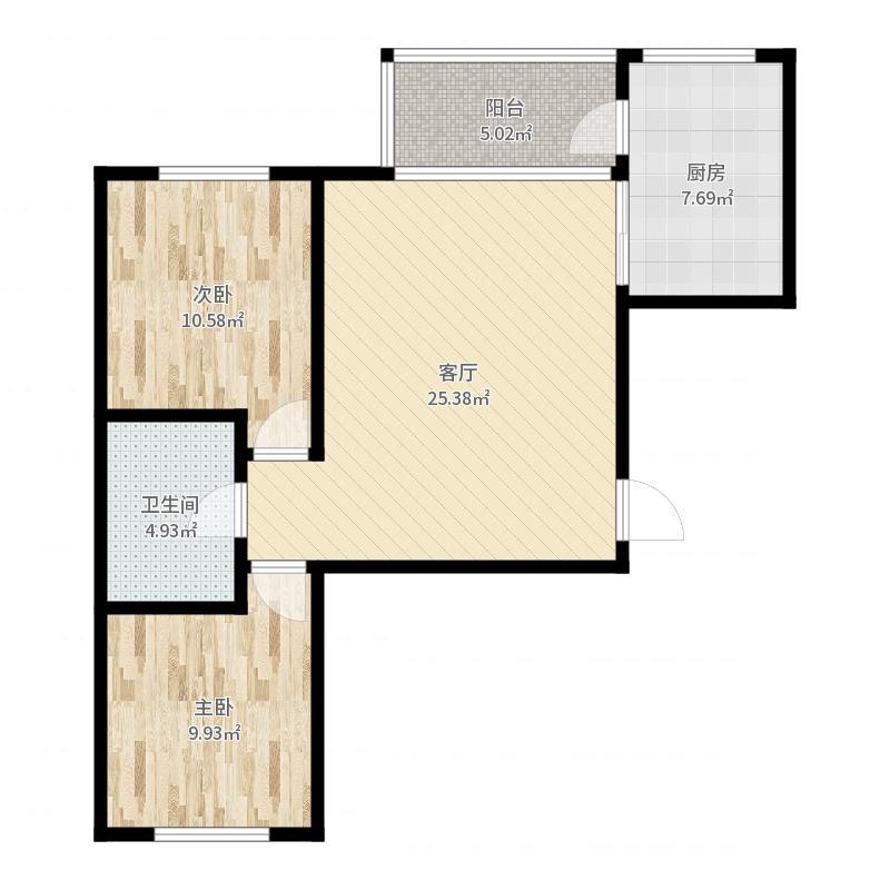 泊林和山38号楼2单元4好户型户型图