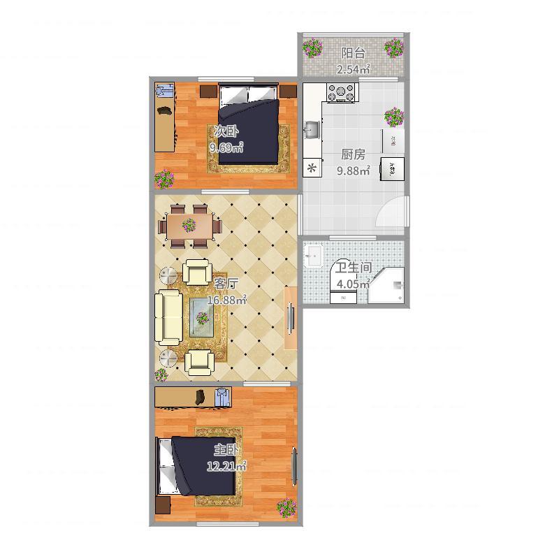 友谊公寓C-3-601户型图