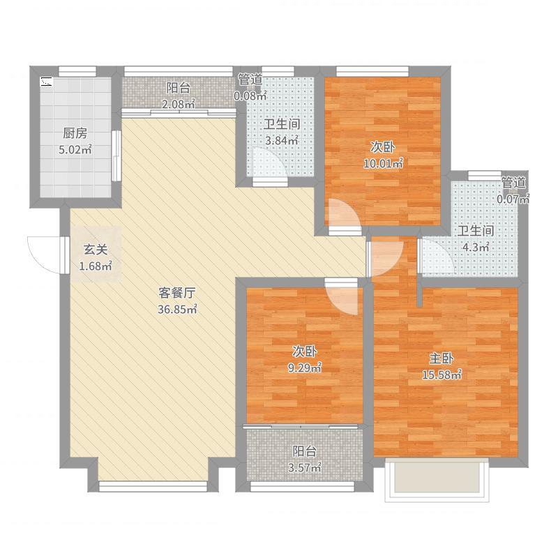 长久中心(公园9号)户型图