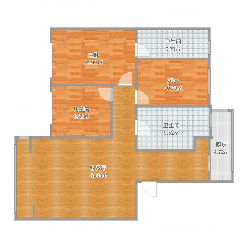 阳光水岸6-1002-副本户型图