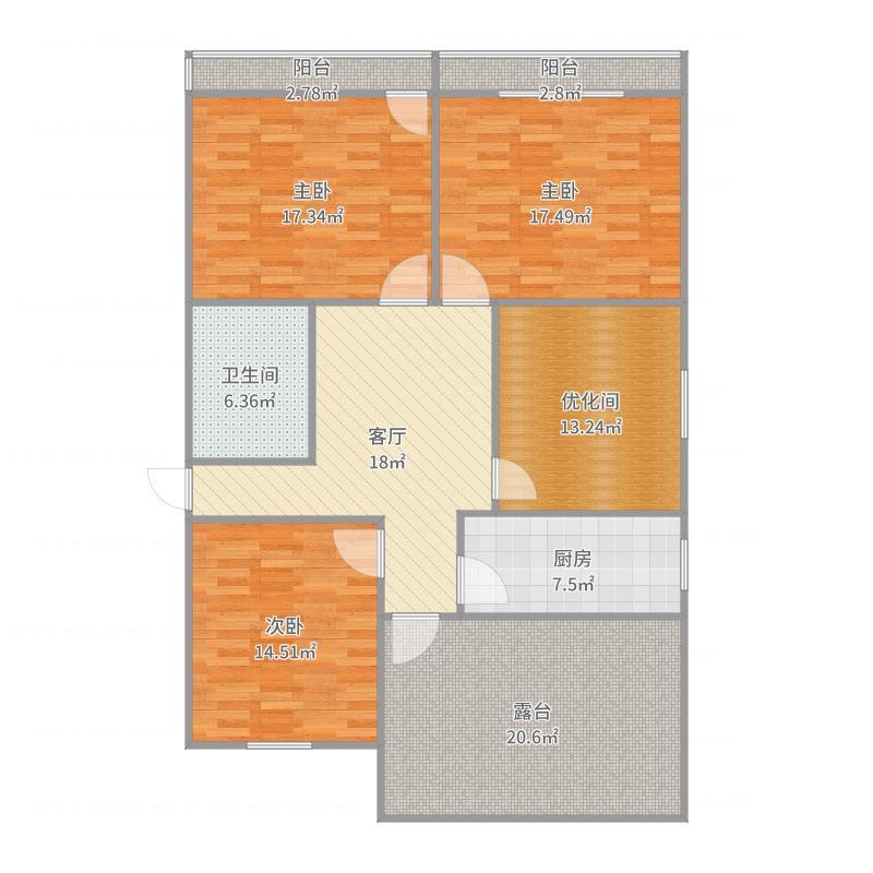 洪武路168号2幢605室户型图