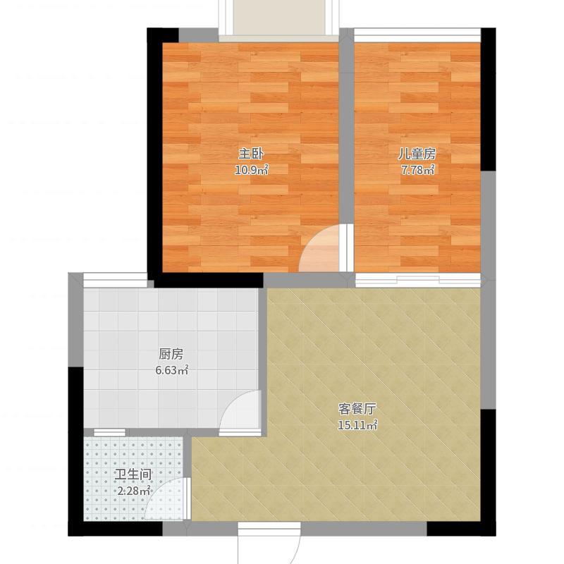 重庆_名敦道南滨国际公寓_2017-09-23-1439户型图