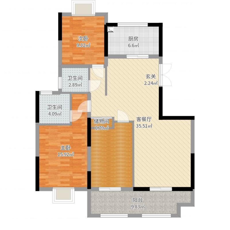 无锡_阳光・假日花园_2017-09-23-1454户型图