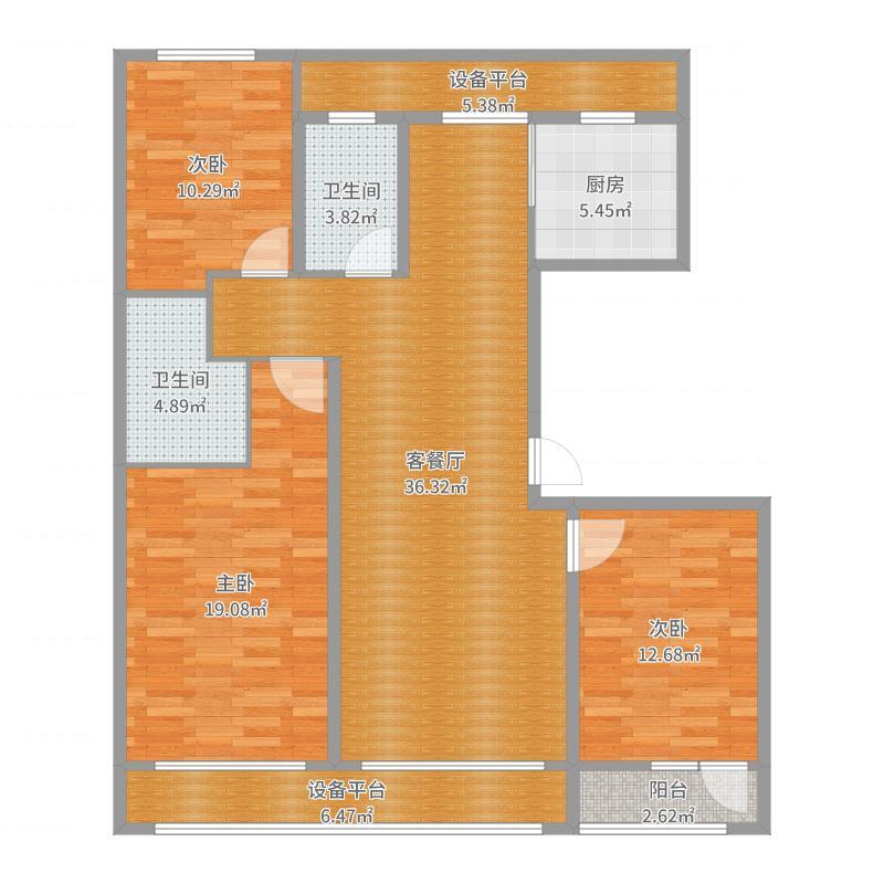 南湖春晓3室2厅户型图