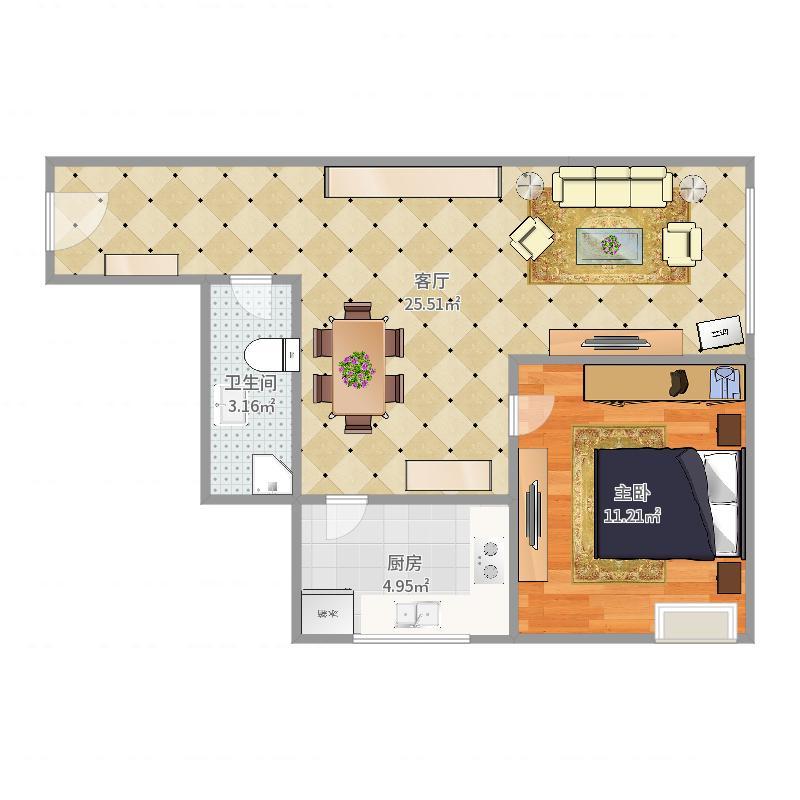 北辰大区-盛和家园8-1105户型图