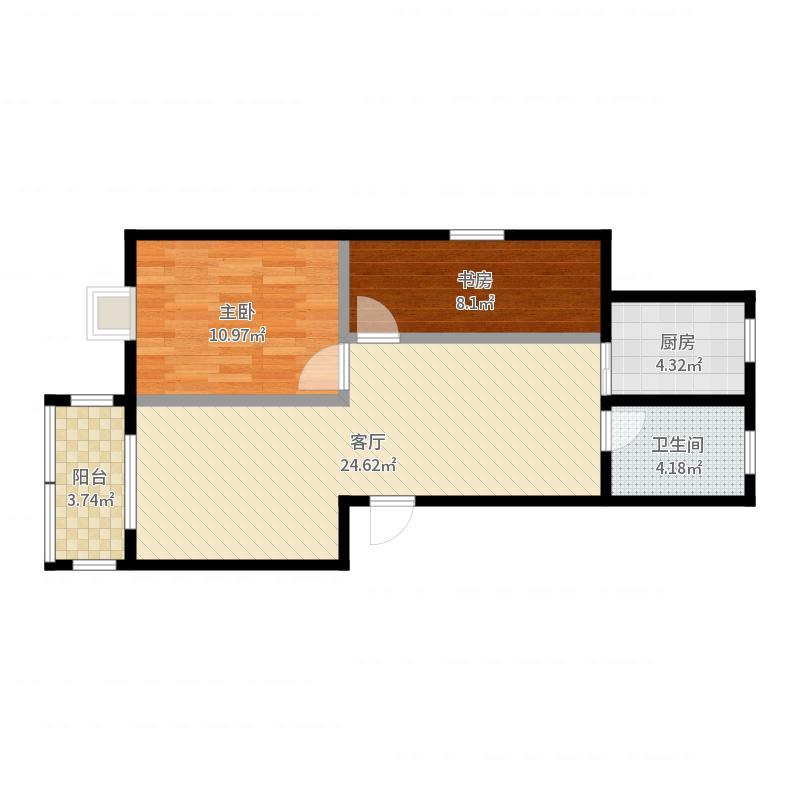 新新家园-改阳台卧室户型图
