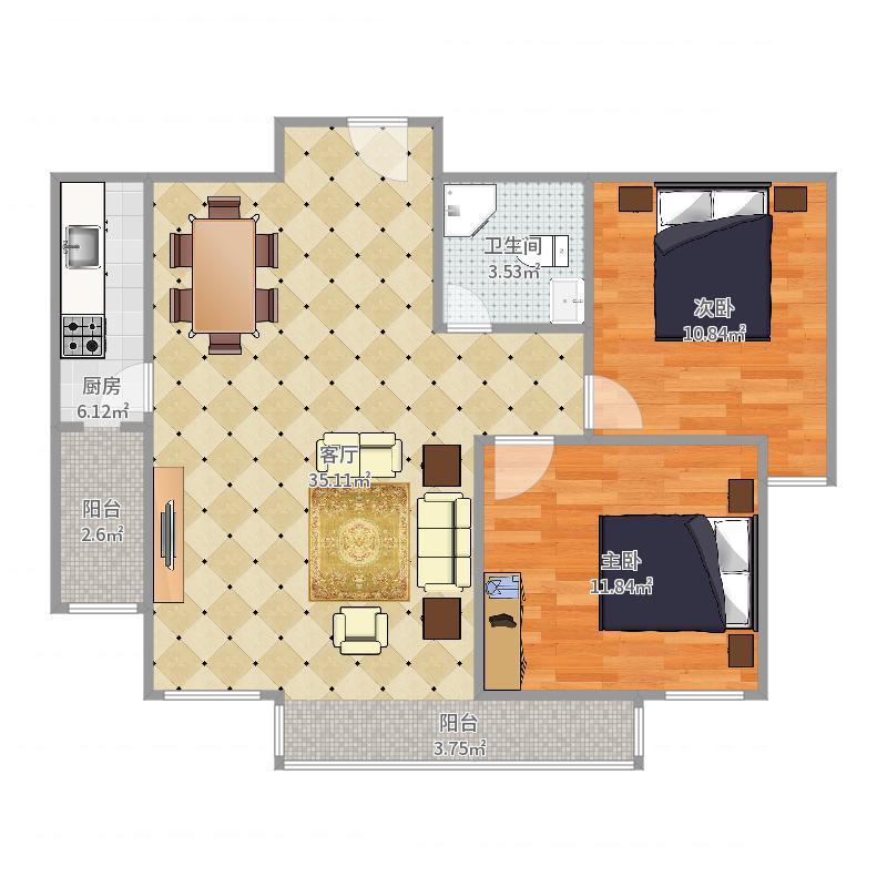 贻丰家园9-2-2502号户型图