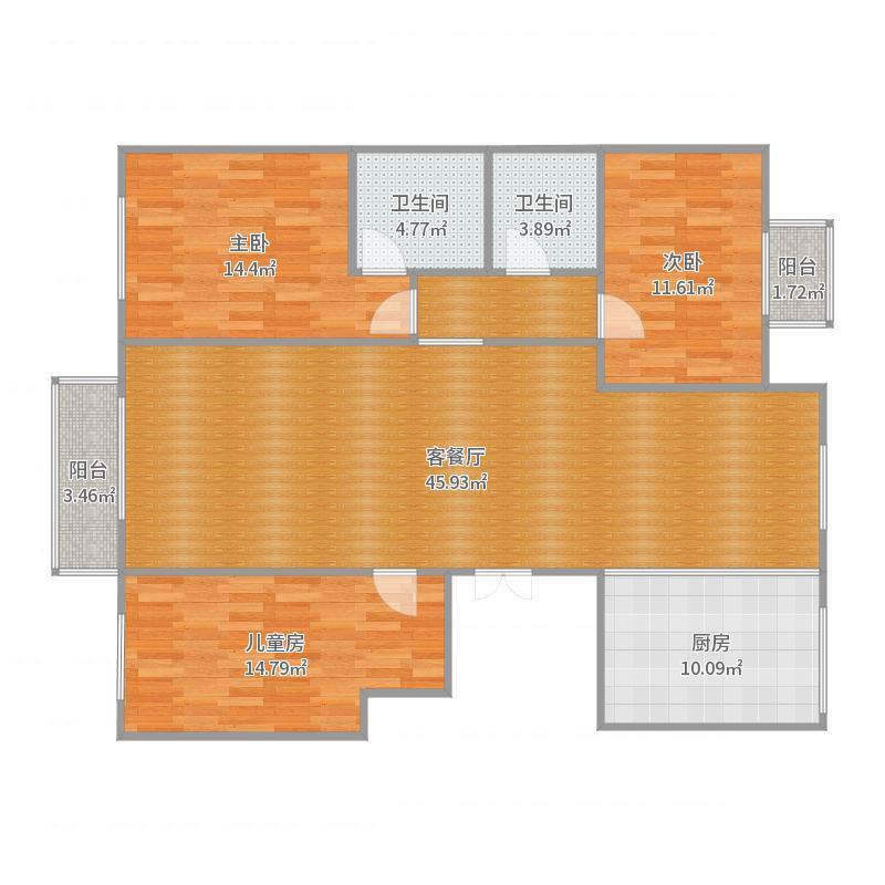东湖湾13-3-1西张凤美客户户型图