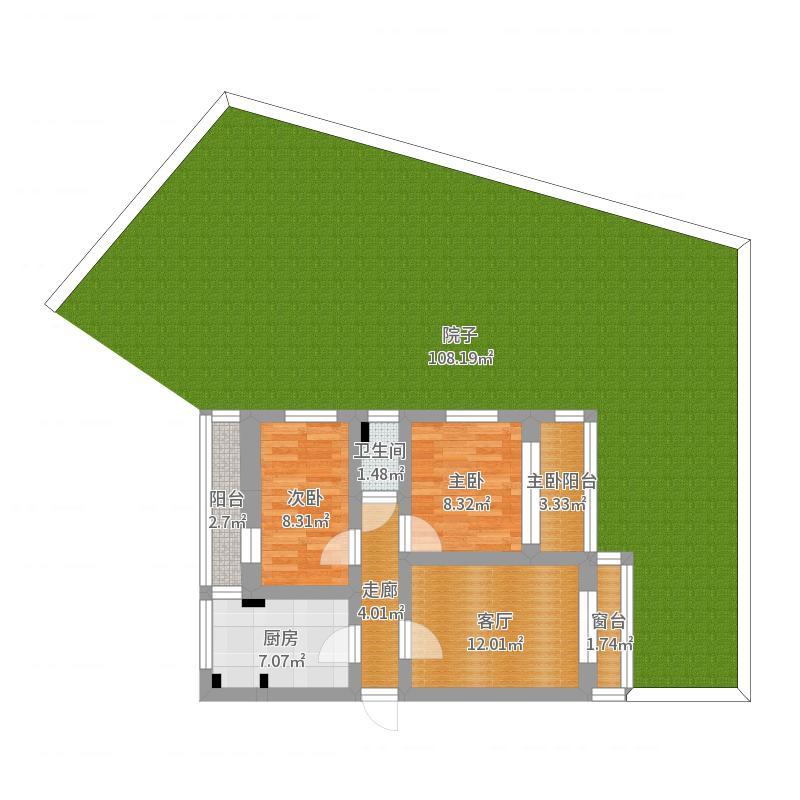 海洋环保所房子一楼户型图