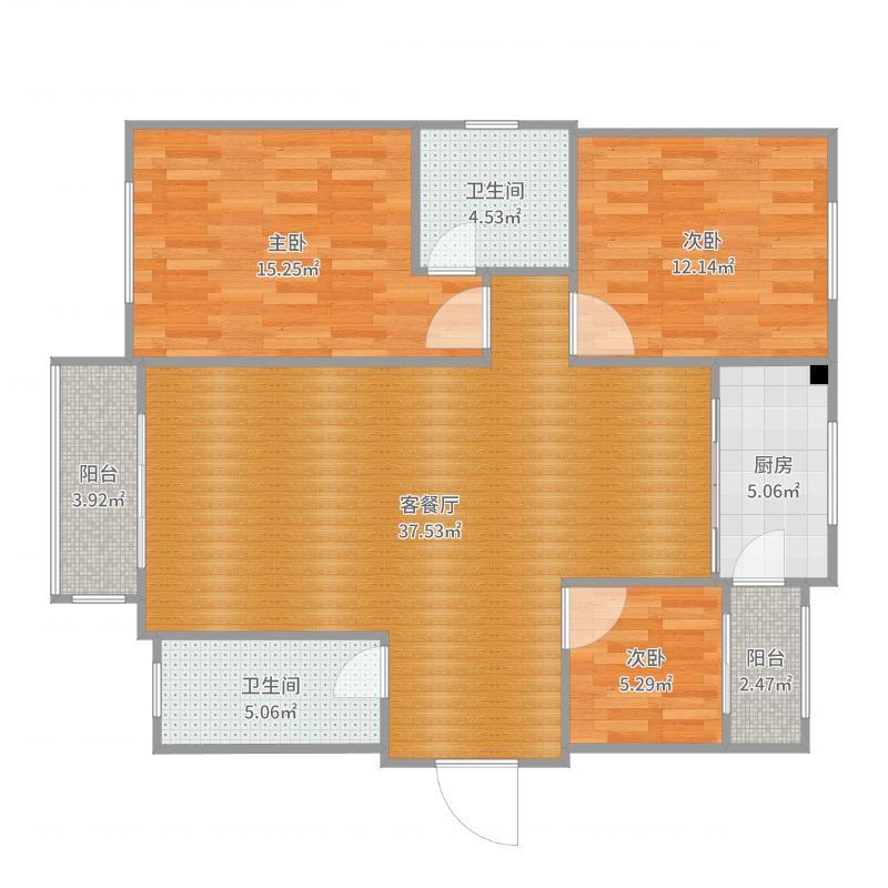 南高营39楼北欧风格户型图