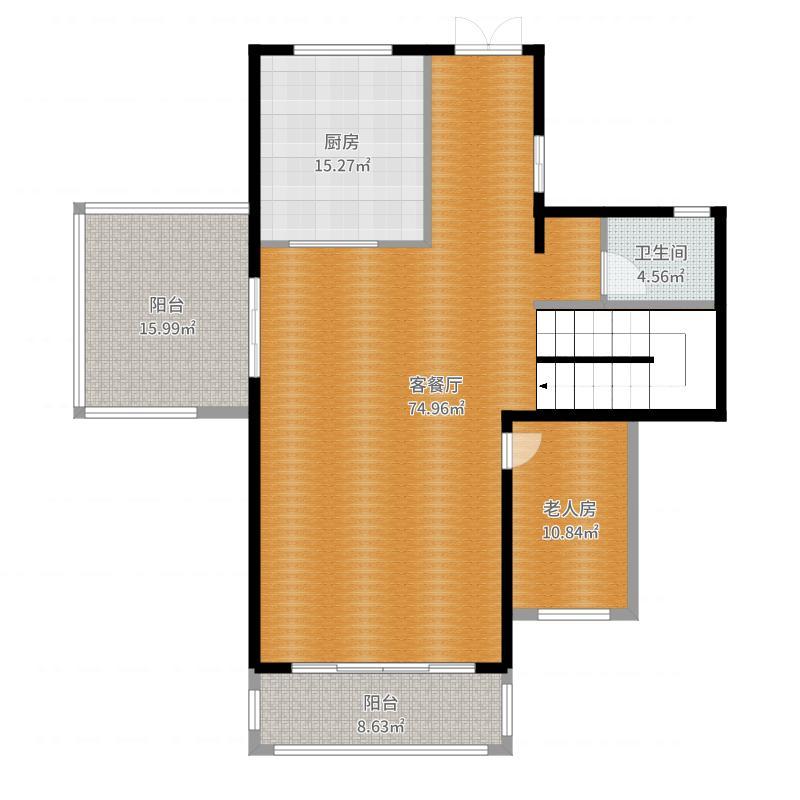 银城长岛观澜一楼客厅加阳台加老人房户型图