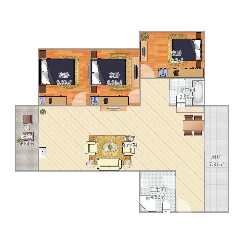 汉通大厦3户型图