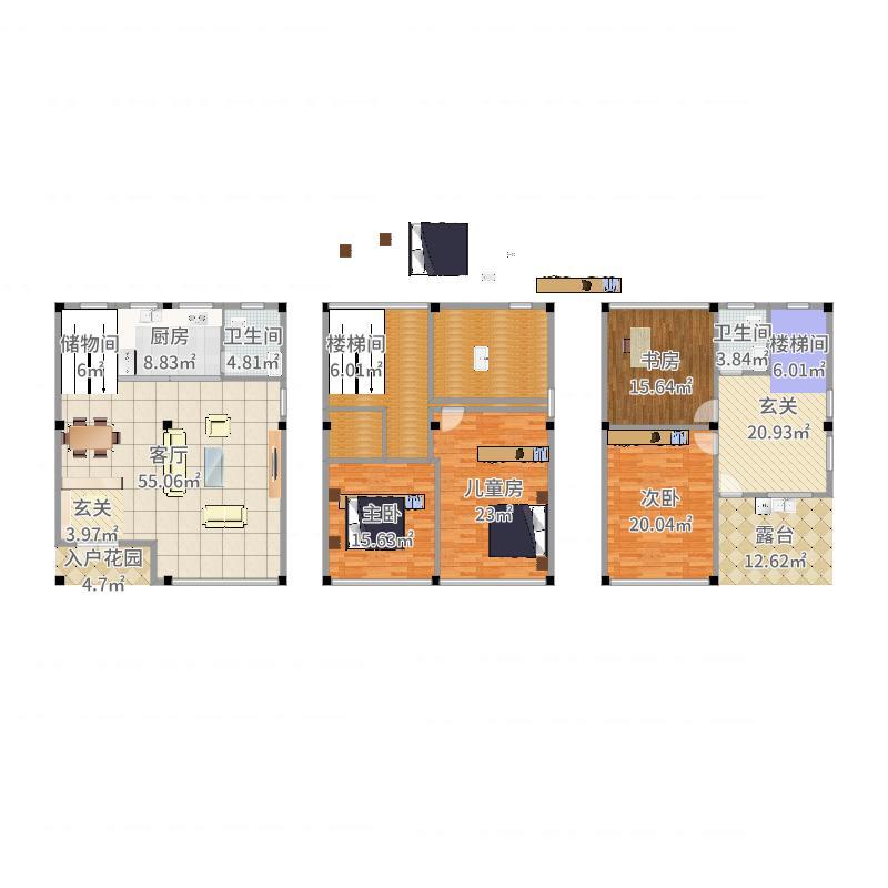 三层别墅1-副本户型图