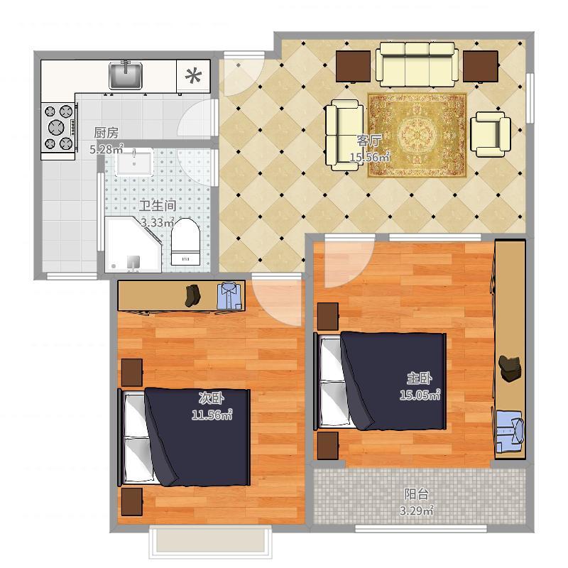 贻成豪庭10-1703户型图