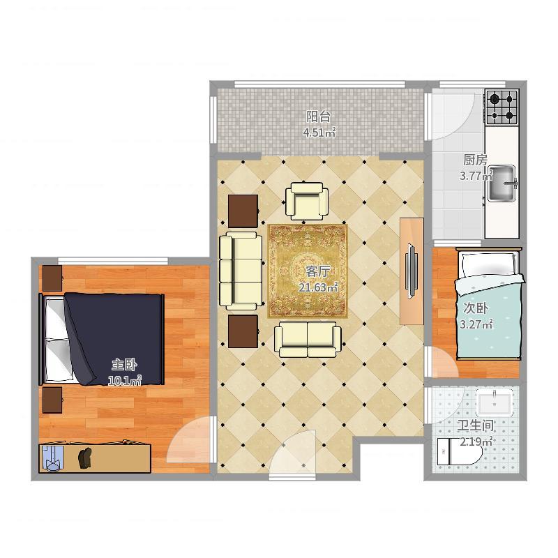 贻成豪庭15-1004户型图