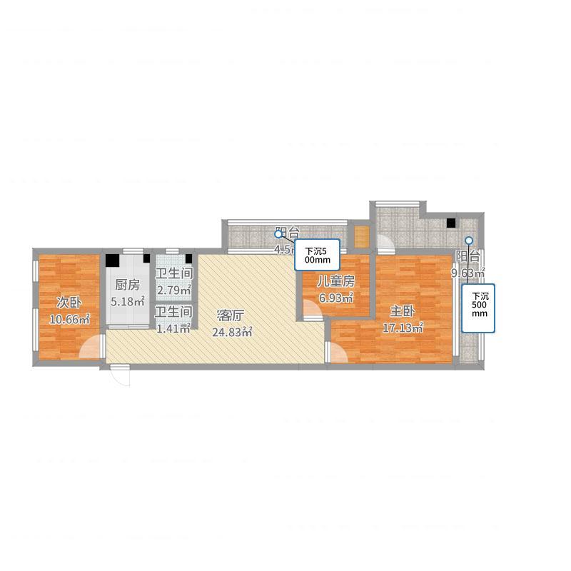 仙林悦城4栋3201-副本户型图