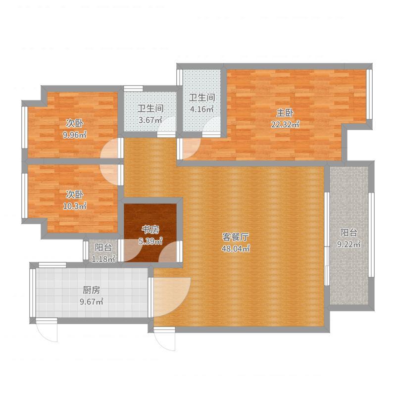 檀香山8栋202向总-副本户型图