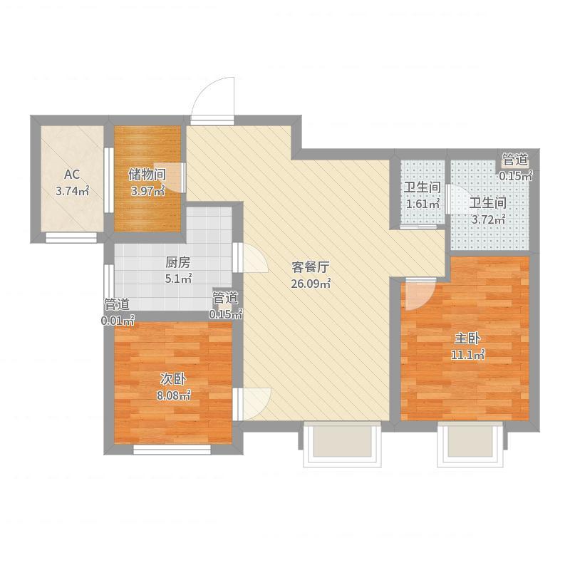 天津_招商雍景湾_2017-09-25-0946户型图