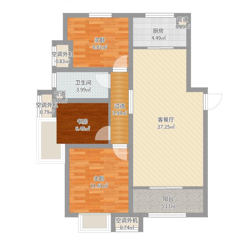 天津中冶德贤公馆酒店户型图