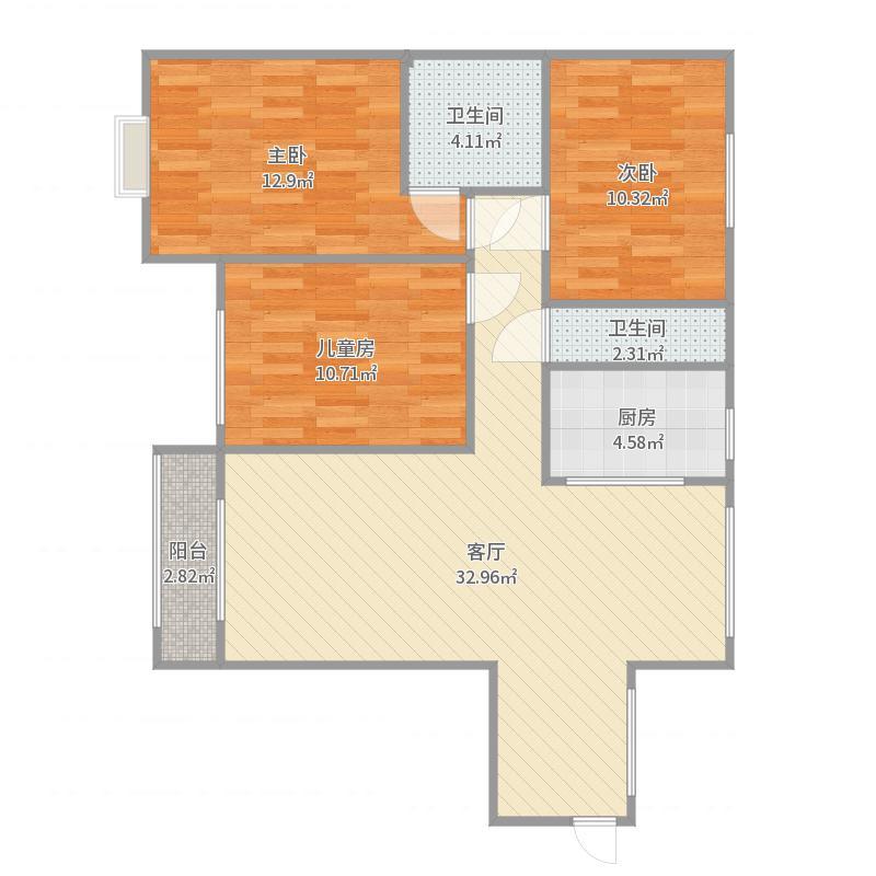 李亚林中央豪庭3-1-603户型图