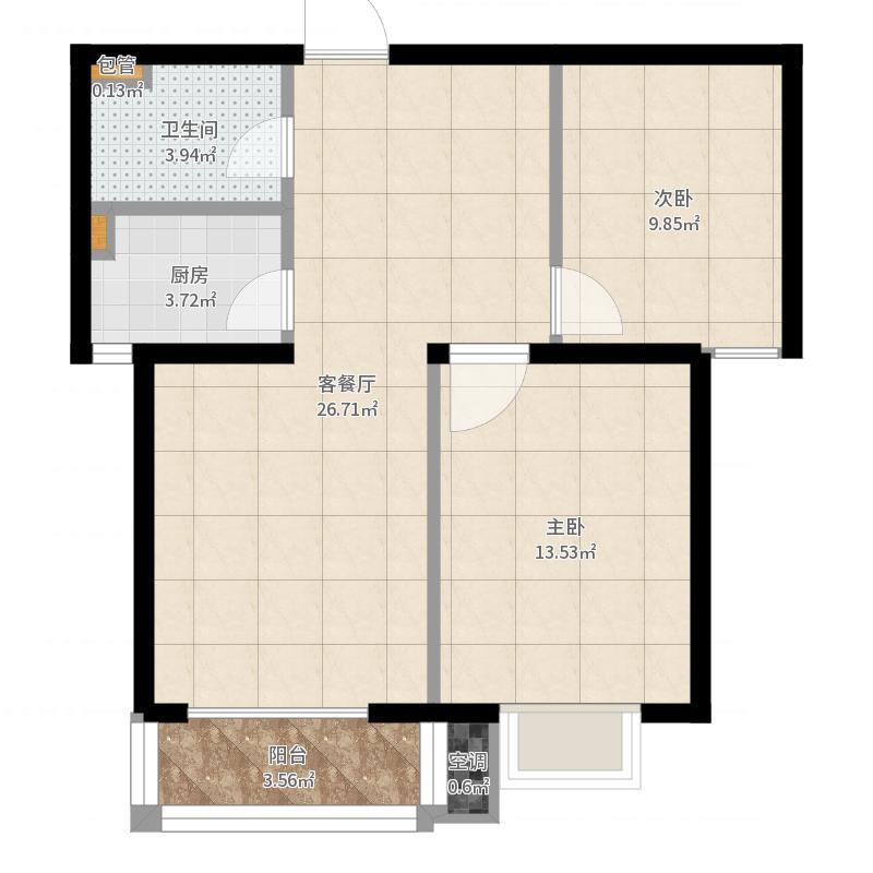 金鹰两室两厅-副本户型图