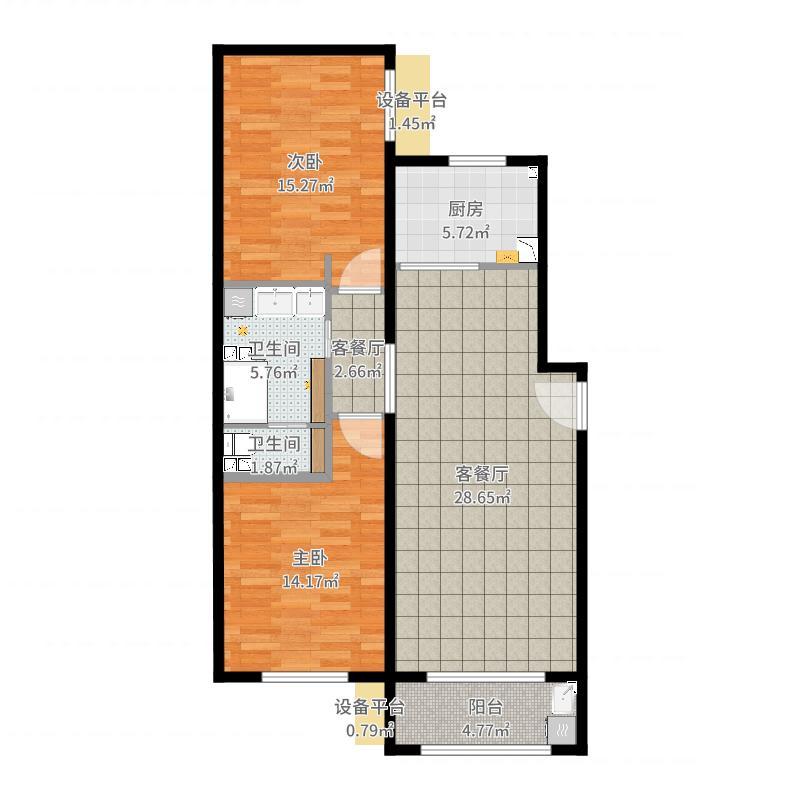 汇君城L区18号楼1单元403室-副本-副本户型图