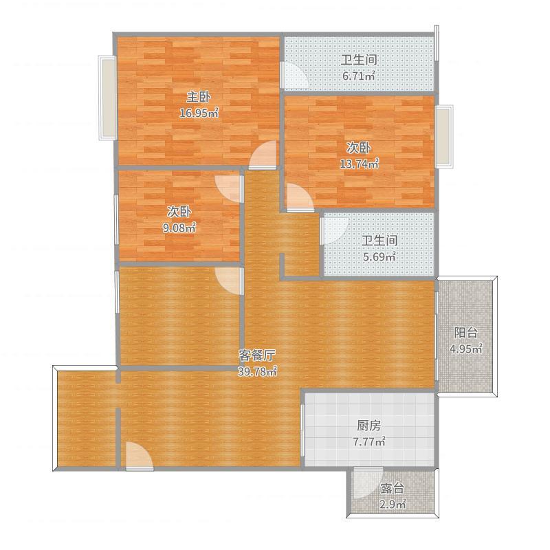 潘洲苑2102户型图