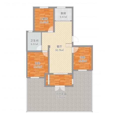 天恒王府3室1厅1卫1厨177.00㎡户型图