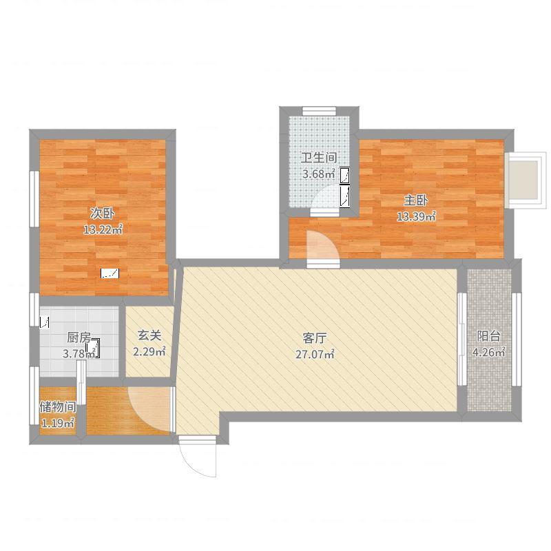 高平新北小区5#120平米户型图