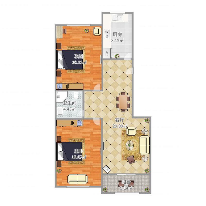金湾公寓-2-5-801户型图
