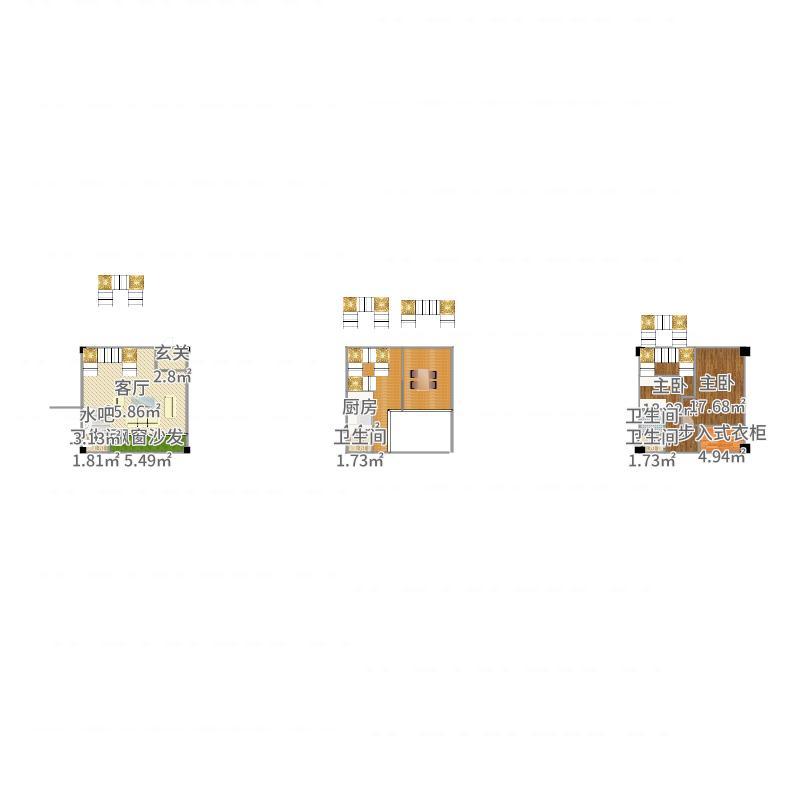 2017-09-23艮47平2.4m层高-副本户型图