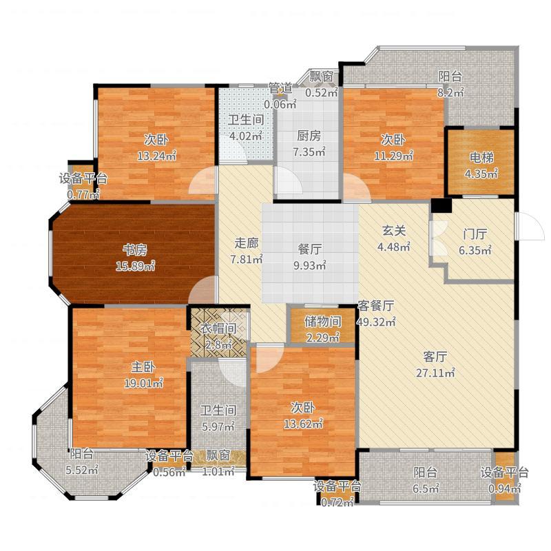 瀛通金鳌山公寓户型图