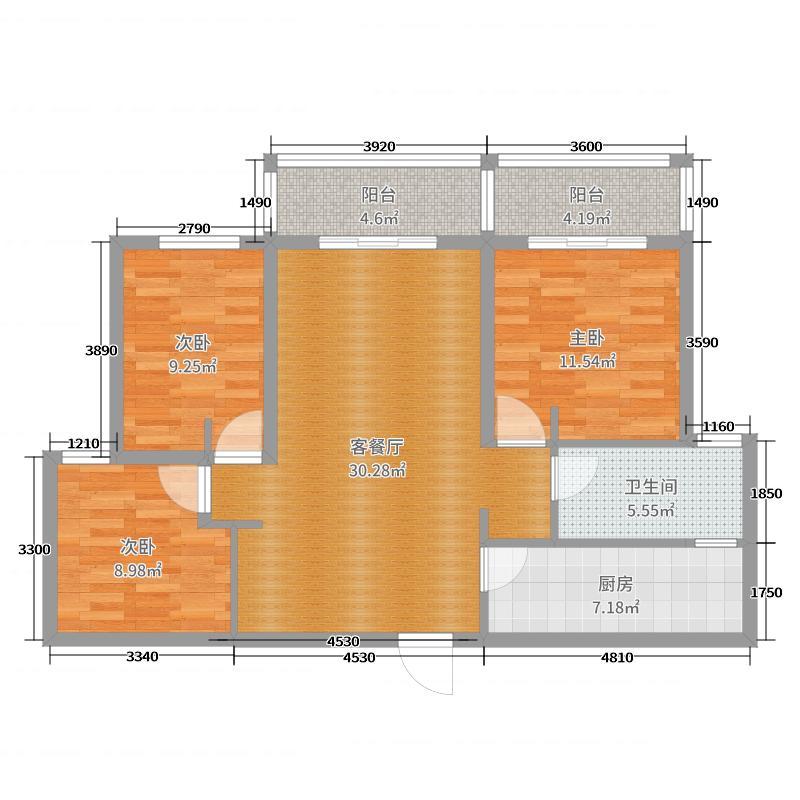 水韵天成8#12C02室户型图