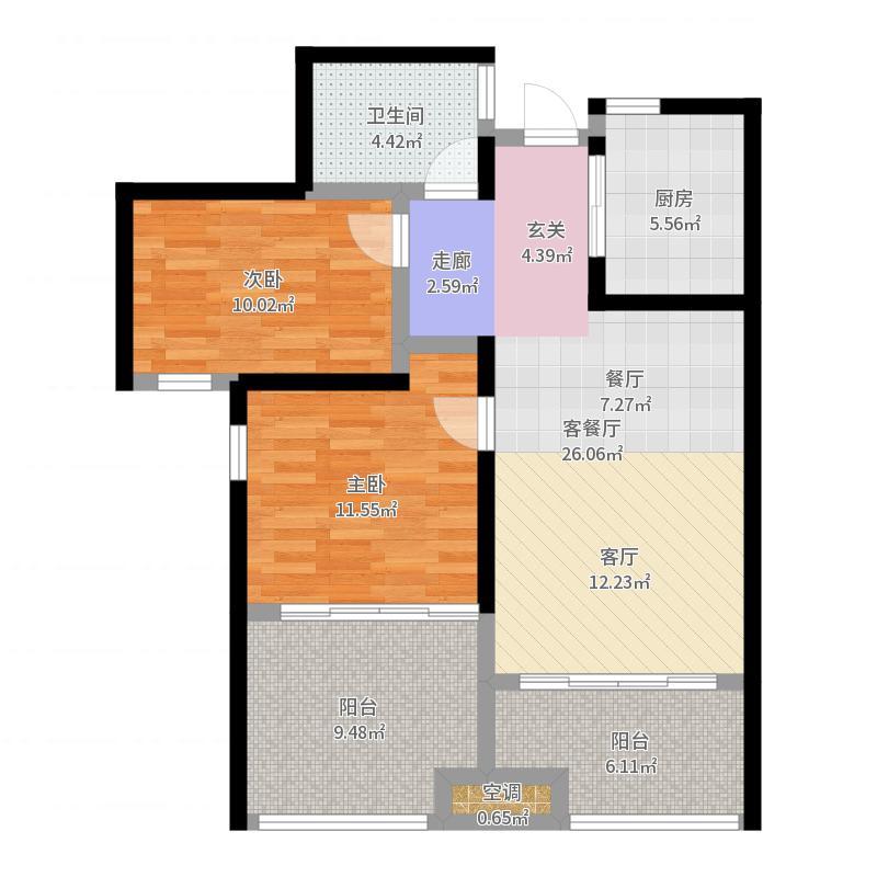 常州市-阳光龙庭-设计方案户型图