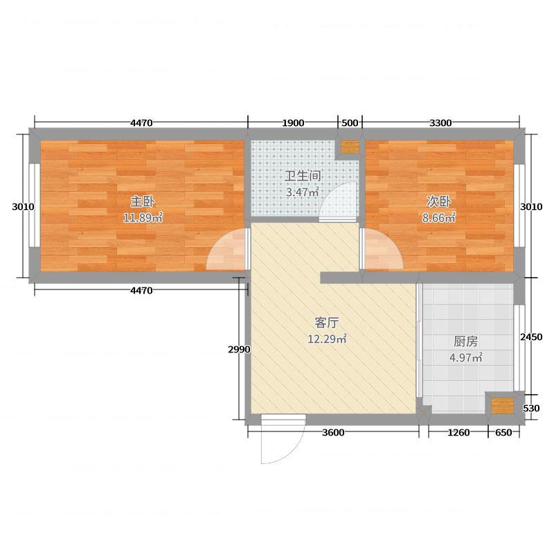 福象湾2105户型图