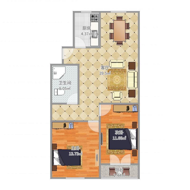 丰盈公寓11-2-502户型图