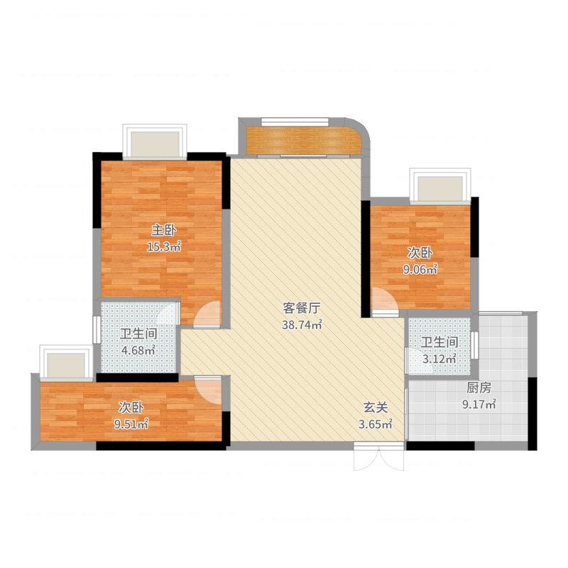 重庆_江城上_2017-09-26-1717户型图