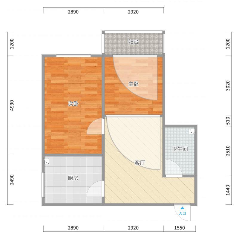 1号楼1单元1002室户型图