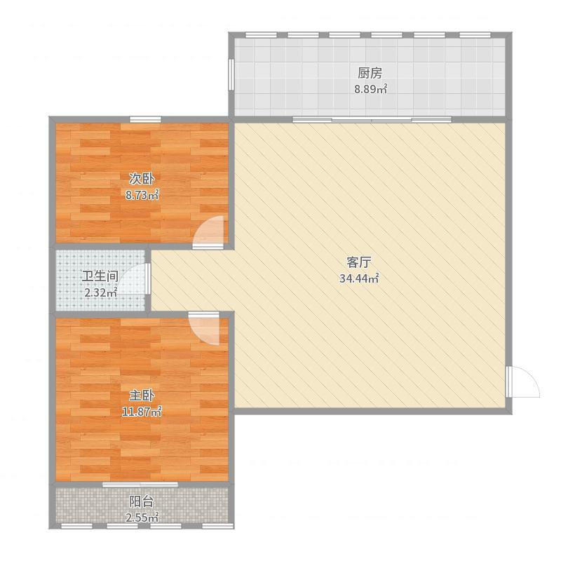 路北-大庆路中心街交叉口-凤凰城15层-毛坯,全款户型图