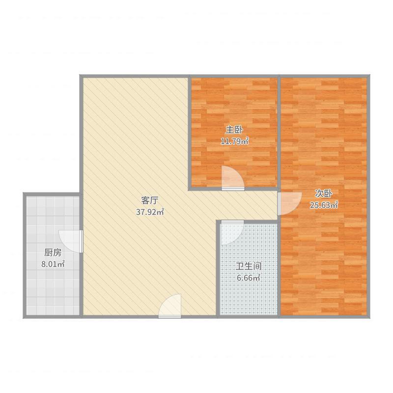 北斗星城5楼电梯房户型图