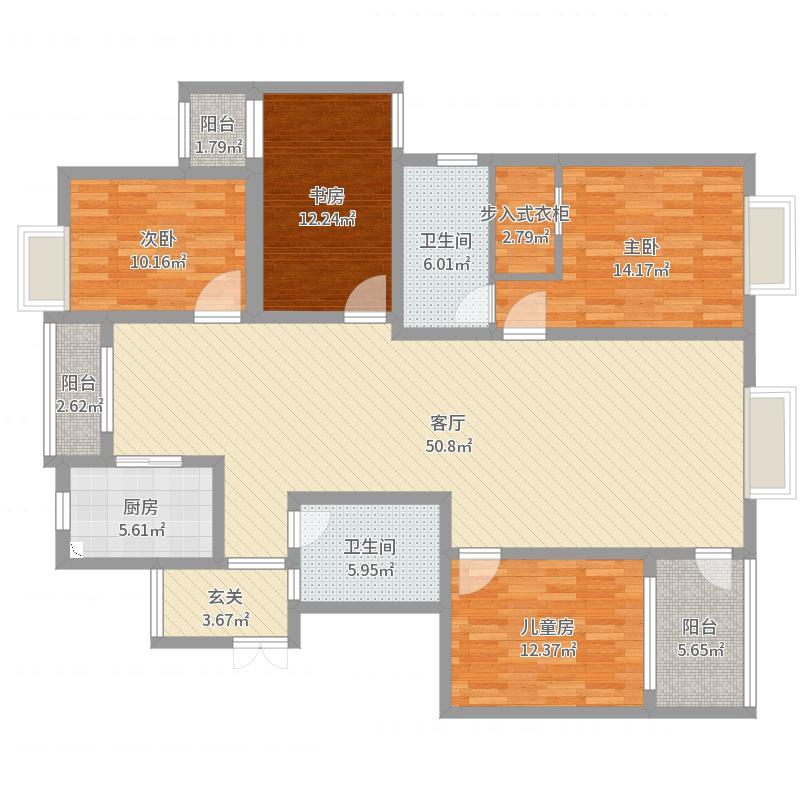富丽家园10-2-801户型图