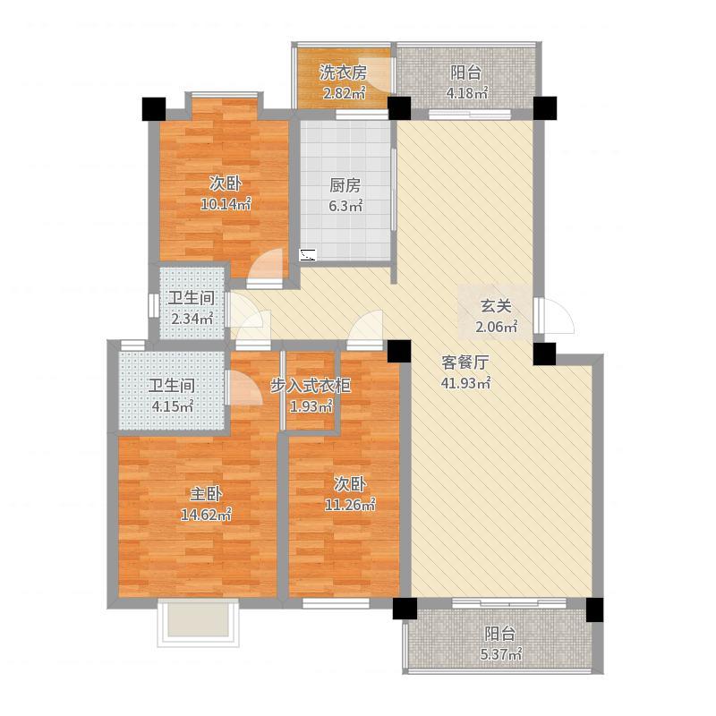 曲靖_泽润龙都_2017-10-17-1623户型图