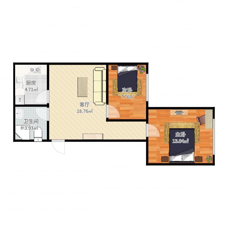 金德园1-4307户型图