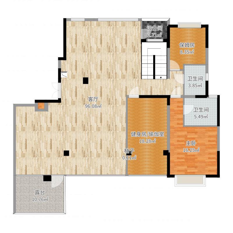 金城一号1楼-改楼梯户型图