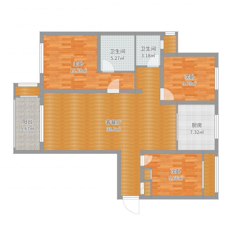 林荫大院18-1-03户型(段姐)户型图