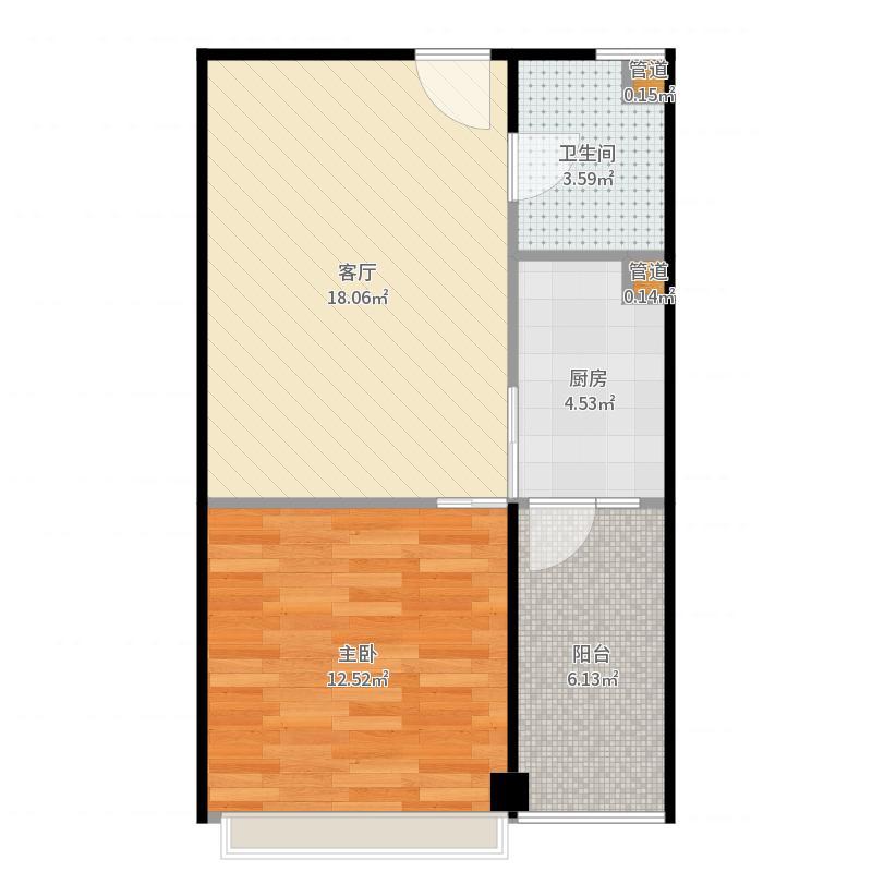 金科国际广场金科蚂蚁金科国际广场金科蚂蚁户型1室1厅1卫1厨-副本户型图